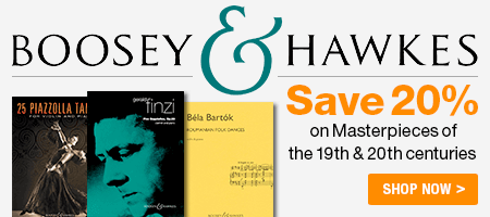 Boosey and Hawkes Sale - Save 20% on Boosey and Hawkes Music