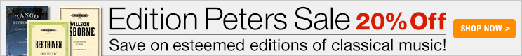 20% off Edition Peters!