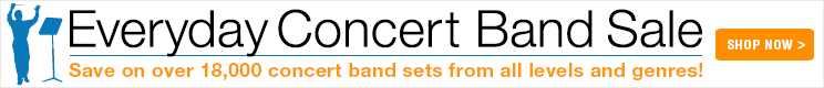 Save 8% on concert band sets!