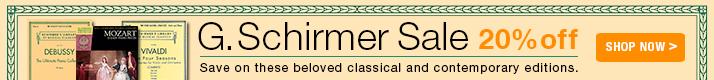 G. Schirmer Sheet Music on Sale