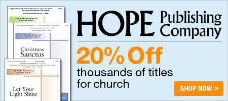 20% Off Music from Hope Publishing