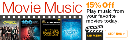 Save 15% on sheet music from your favorite movies!