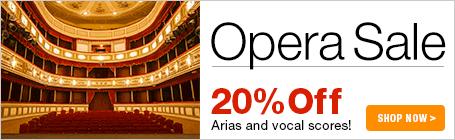 Opera Vocal Scores Sale