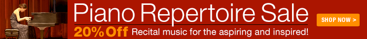 20% Off Piano Repertoire Sale!