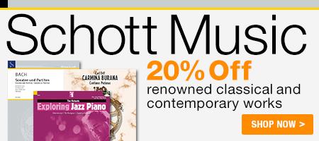 20% Off Schott Music!