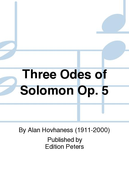 Three Odes of Solomon Op. 5