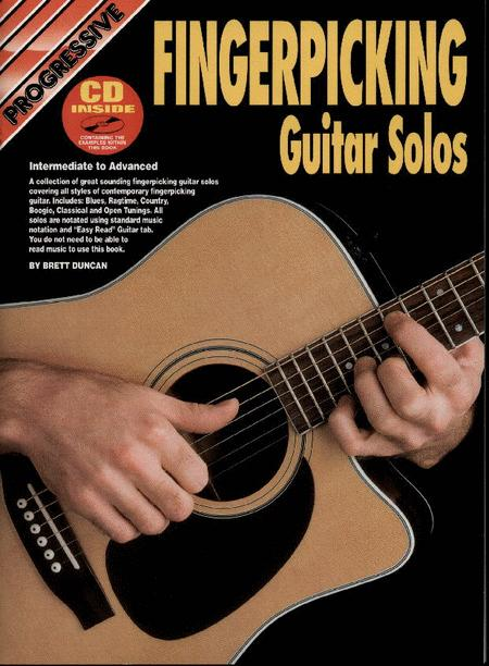 Progressive Fingerpicking Guitar Solos (Book/CD)