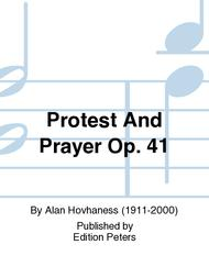 Protest And Prayer Op. 41