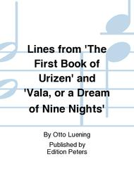 Lines from 'The First Book of Urizen' and'Vala, or a Dream of Nine Nights'