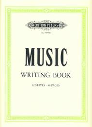 Peters Music Writing Book