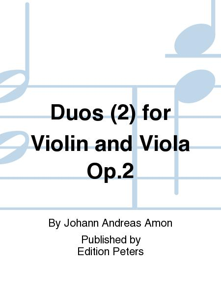 Duos (2) for Violin and Viola Op. 2