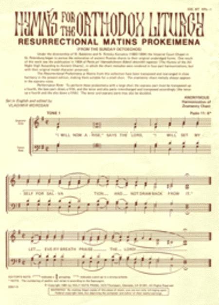 Resurrectional Matins Prokeimena (8 Tones)