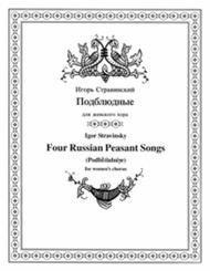 Four Russian Peasant Songs (original unaccompanied version)