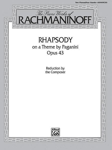 Rhapsody On A Theme By Paganini, Opus 43