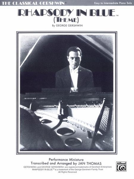 Rhapsody In Blue Theme - Easy Piano Solo