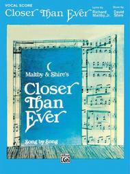 Closer Than Ever - Vocal Score