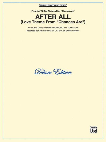 After All Sheet Music By Cher Sheet Music Plus