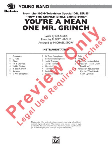 How The Grinch Stole Christmas Lyrics.Preview You 039 Re A Mean One Mr Grinch Ap Cb9740c