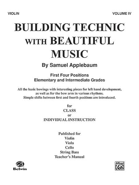 Building Technic with Beautiful Music - Volume IV (Violin)