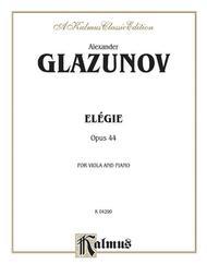 Elegie for Viola, Op. 44