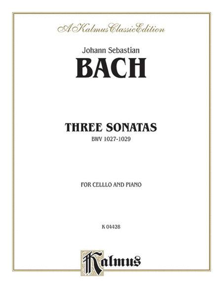 Three Sonatas for Viola da Gamba, BWV 1027-29