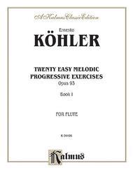 Twenty Easy Melodic Progressive Exercises, Op. 93, Volume 1