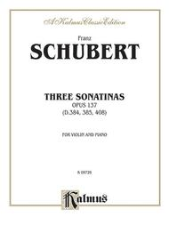 Three Sonatas, Op. 137