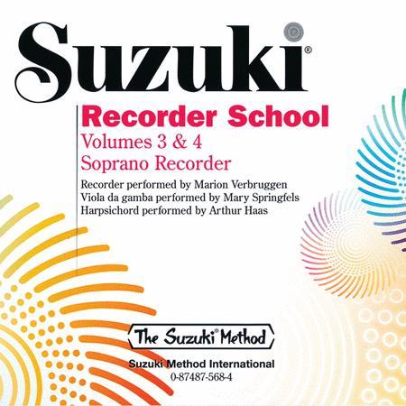 Suzuki Recorder School (Soprano Recorder), Volumes 3 & 4