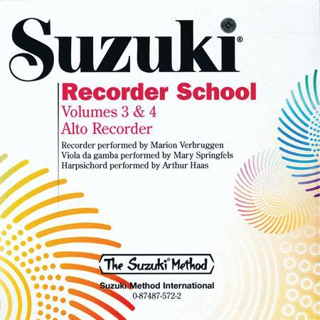Suzuki Recorder School (Alto Recorder), Volumes 3 & 4