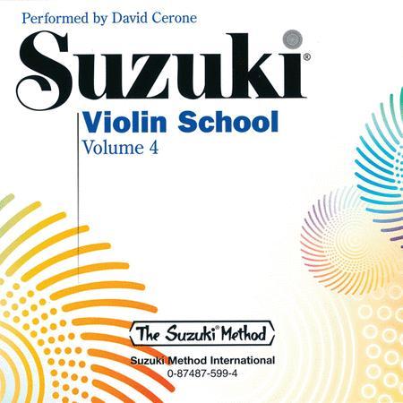 Suzuki Violin School, Volume 4 - Compact Disc