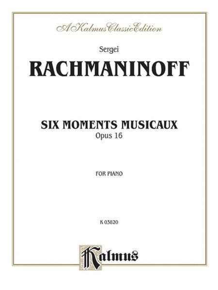 Six Moments Musicaux, Op. 16