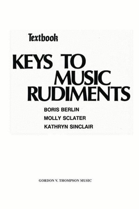 Keys to Music Rudiments