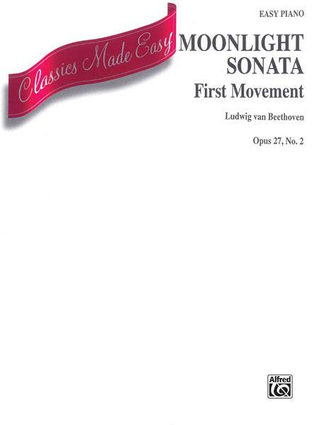 Moonlight Sonata - First Movement - Easy Piano