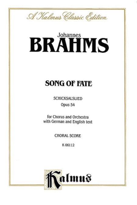 Song of Fate (Schicksalslied), Op. 54