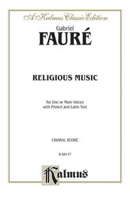 Religious Music, Cantique de Jean Racine; Other short choral works for Treble or Mixed Voices