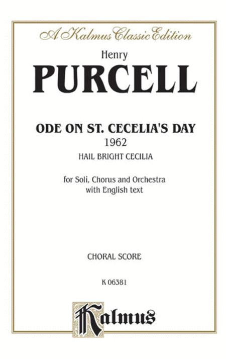 Ode to St. Cecilia's Day