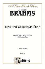 Fest-und Gedenkspruche, Op. 109
