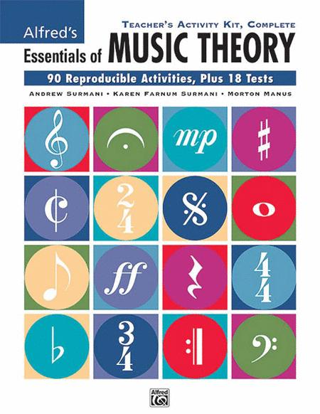 Essentials of Music Theory: Teacher's Activity Kit, Complete (Books 1-3)