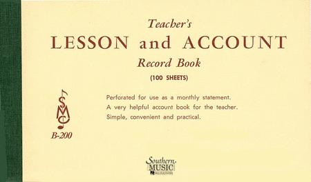 Teacher's Lesson and Account Record Book