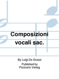 Composizioni vocali sac.