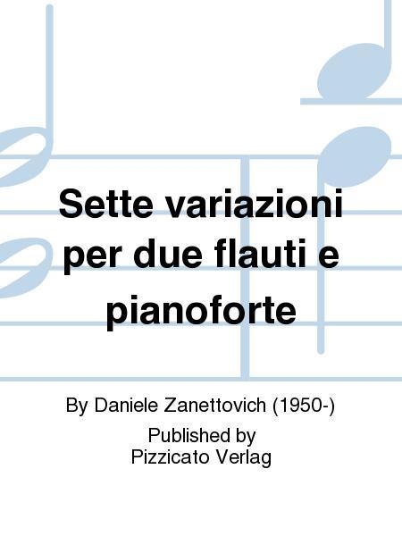 Sette variazioni per due flauti e pianoforte