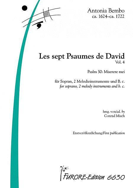 Les sept Psaumes de David Volume 4 Psalm L: Miserere mei (S)