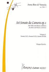 Sonatas for flute op. 1 - Volume 1: Sonate I (C), Sonate II (F), Sonate III (B)