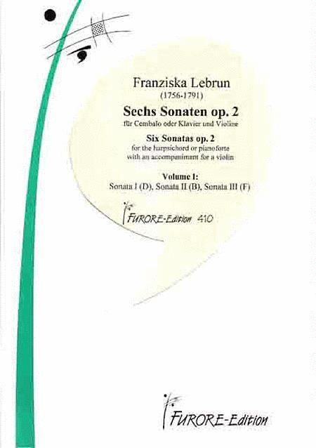 Sonaten op. 2 fur Violine und Klavier. Volume I: Sonaten 1-3