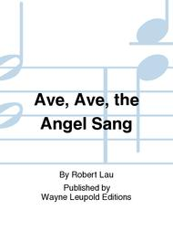 Ave, Ave, the Angel Sang