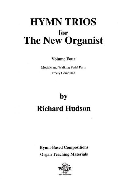 Hymn Trios for the New Organist - Volume Four