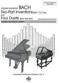 The Two-Part Inventions and the Four Duets (BMV772-786, 802-805)