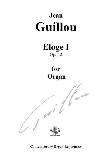 Eloge I, Op. 52