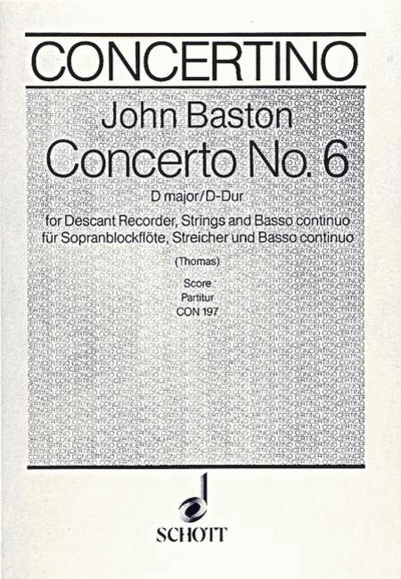 Concerto No. 6 D Major