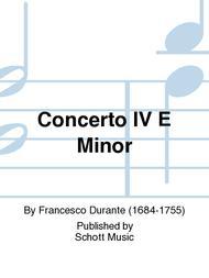 Concerto IV E Minor